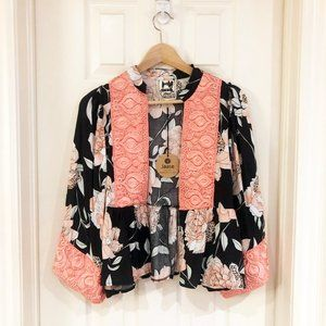 🌟Host Pick🌟 Boho Floral Embroidered Kimono Top